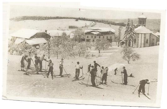 Le Bellevue Giron en carte postale